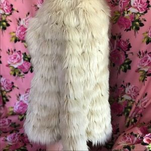 Willow clay fur nude coat jacket fluffy bunny fox